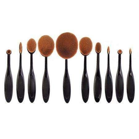 10pcs oval brush set