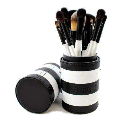 12pcs Morphe Brushes Black White Travel Set