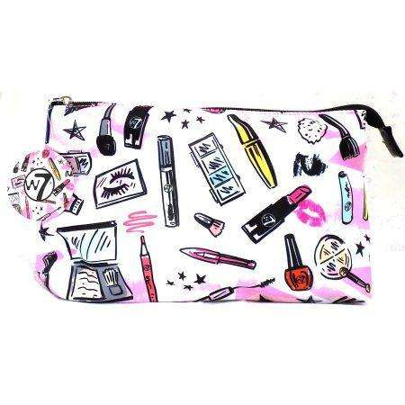 W7 Large Cosmetic Bag Cosmetic Print
