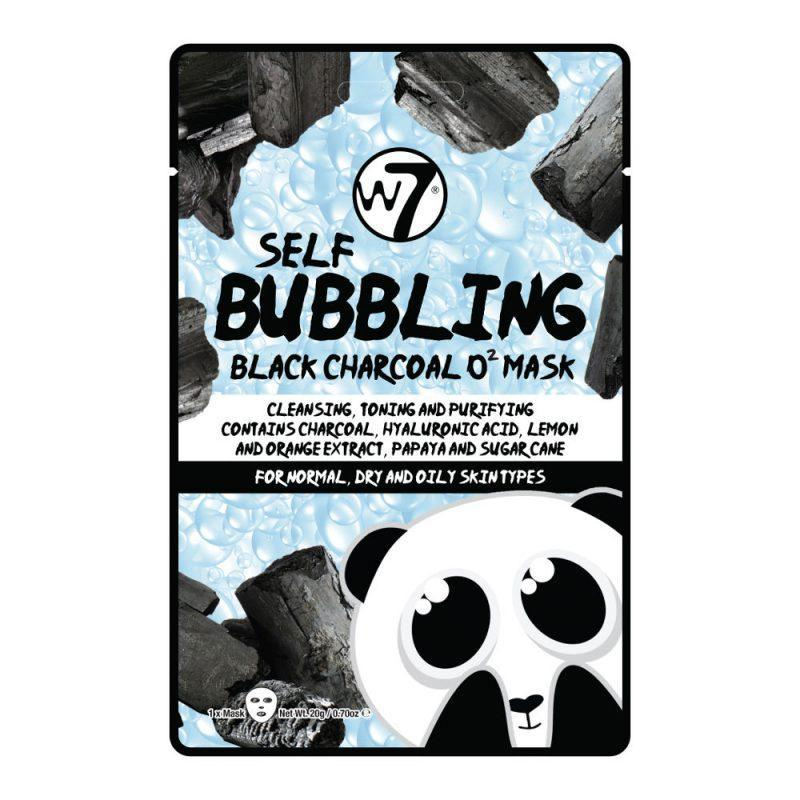 W7 Self Bubbling Black Charcoal O2 Face Mask