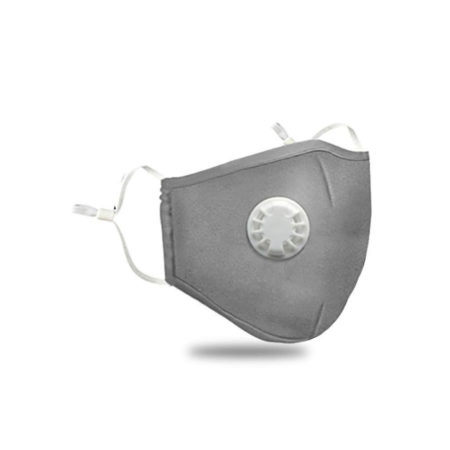 Anti Dust Cotton Filter Mask Grey