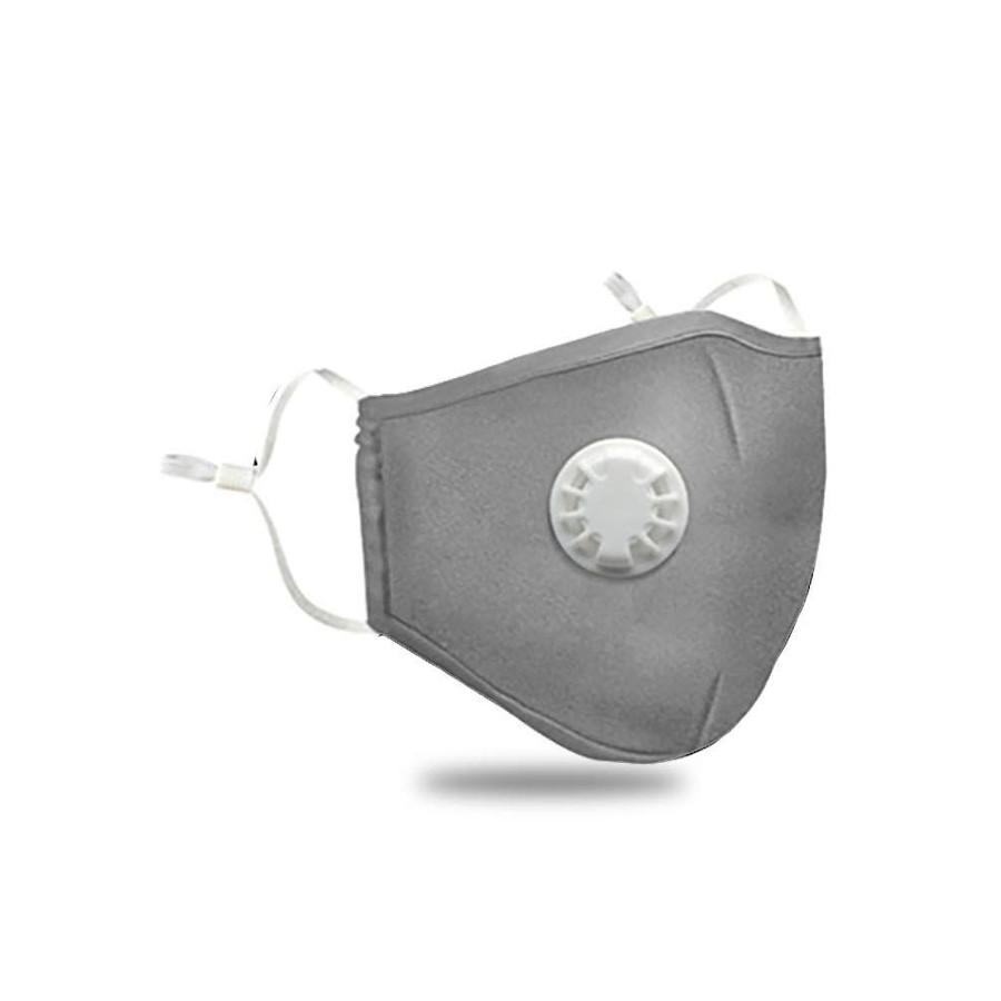 Anti Dust Cotton Filter Mask Grey