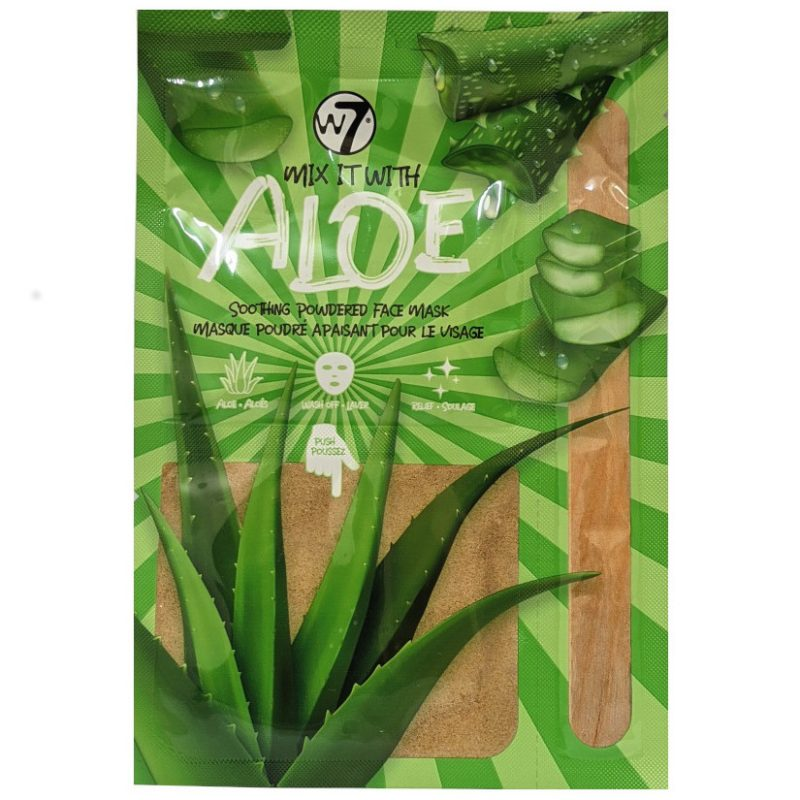 W7 Face Mask Soothing Powdred Mix It With Aloe Vera