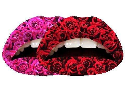 Violent Lips Tattoo : The Roses