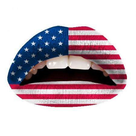 Violent Lips Tattoo : American Flag