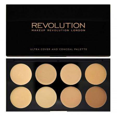 Makeup Revolution Ultra COVER AND CONCEALER Palette Light - Medium