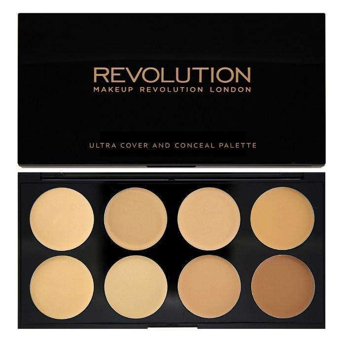 Makeup Revolution Ultra COVER AND CONCEALER Palette Light - Medium