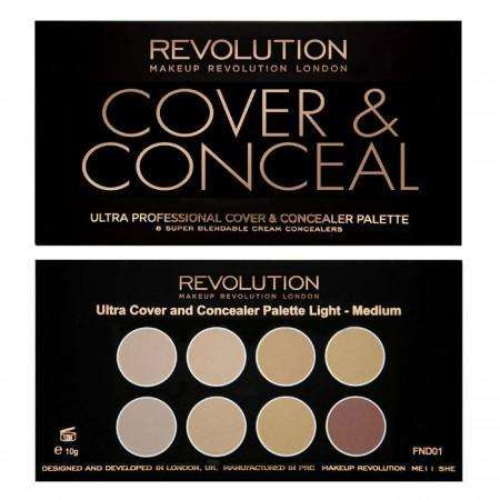 Makeup Revolution Ultra COVER AND CONCEALER Palette Light – Medium