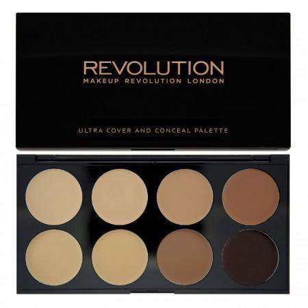 Makeup Revolution Ultra COVER AND CONCEALER Palette Medium - Dark