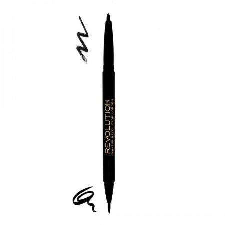 Makeup Revolution Brow Dual Ultra Brow Arch & Shape DARKEST