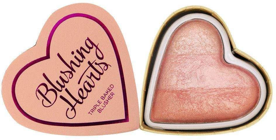 I Heart Makeup Hearts Blusher Peachy Pink Kisses