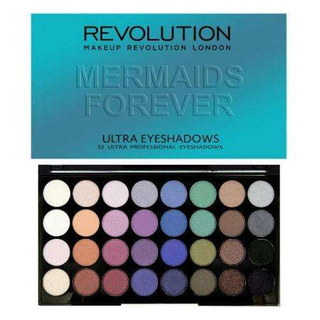 Makeup Revolution 32 Eyeshadow Palette MERMAIDS FOREVER