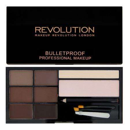 Makeup Revolution Ultra BROW Palette - Medium to Dark