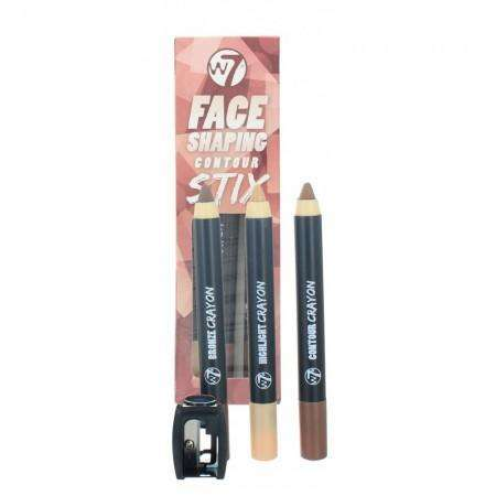 W7 Face Shaping 3 Contour Stix Highlight, Bronzer & Contour